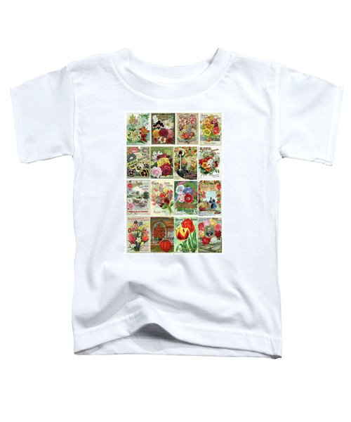 Vintage Flower Seed Packets 1 Toddler T-Shirt