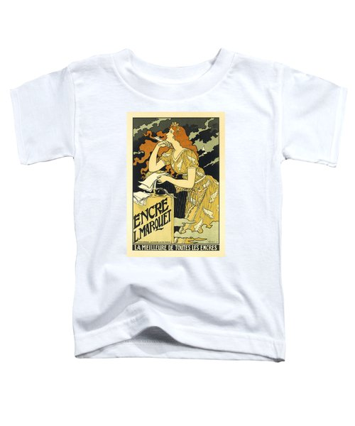 Vintage French Advertising Art Nouveau Encre L'marquet Toddler T-Shirt