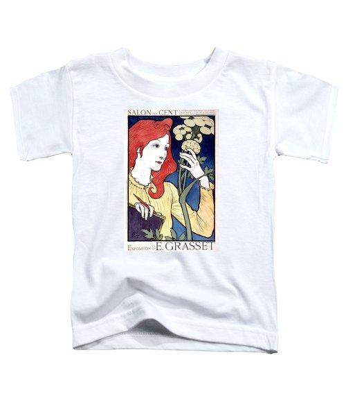 Vintage French Advertising Art Nouveau Salon Des Cent Toddler T-Shirt