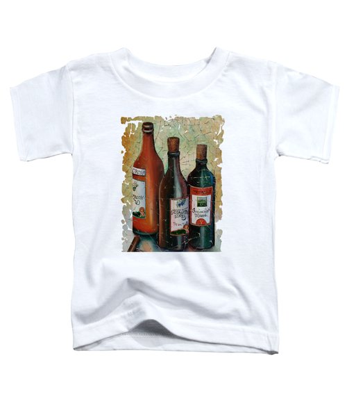 Vintage Georgian Wine Fresco Toddler T-Shirt by Lena  Owens OLena Art