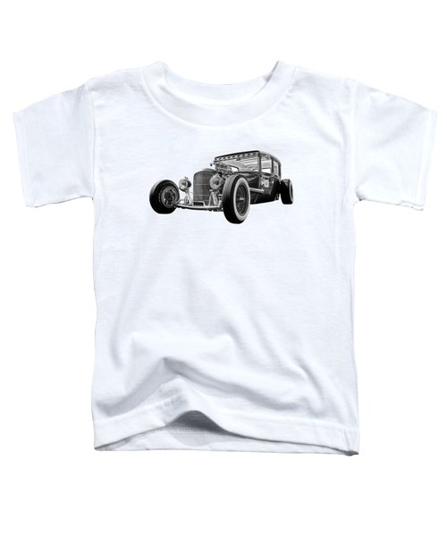 Vintage Hot Rod In Black And White Toddler T-Shirt