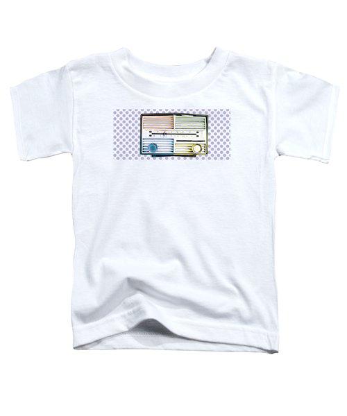 Vintage Radio Purple Dots Mug Toddler T-Shirt by Edward Fielding