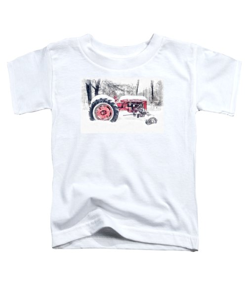 Vintage Tractor Christmas Toddler T-Shirt