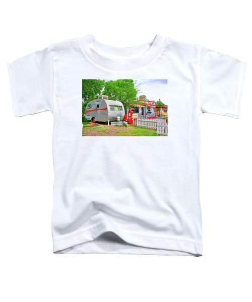 Vintage Trailer And Diner In Bisbee Arizona Toddler T-Shirt