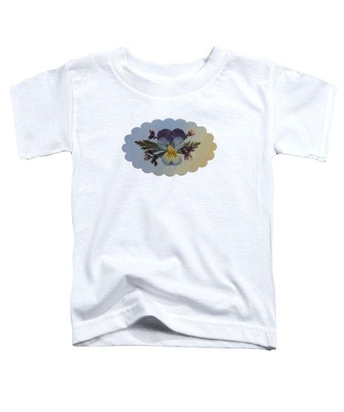 Viola Pressed Flower Arrangement Toddler T-Shirt