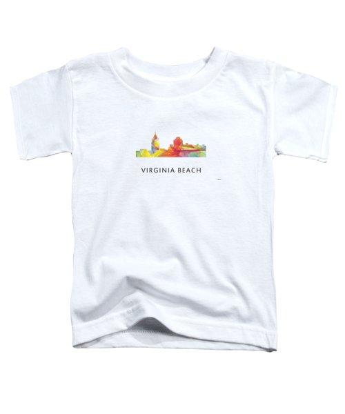 Virginia Beach  Virginia Skyline Toddler T-Shirt by Marlene Watson