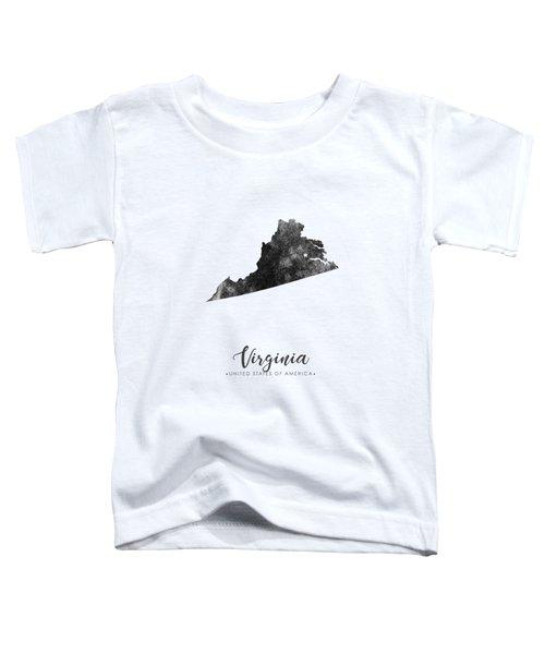 Virginia State Map Art - Grunge Silhouette Toddler T-Shirt