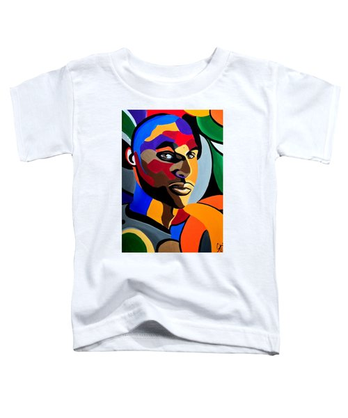 Visionaire, Abstract Male Face Portrait Painting - Illusion Abstract Artwork - Chromatic Toddler T-Shirt
