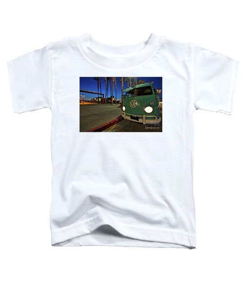 Volkswagen Bus At The Imperial Beach Pier Toddler T-Shirt