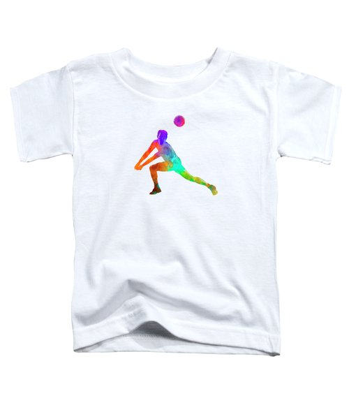 Volley Ball Player Man 03 In Watercolor Toddler T-Shirt