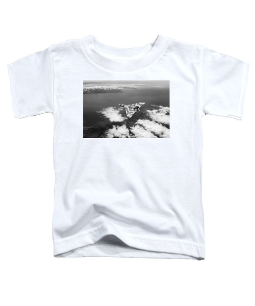Vulcan Over South Wales Black And White Toddler T-Shirt