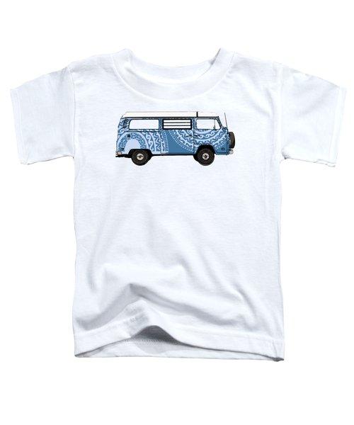 Vw Blue Van Toddler T-Shirt