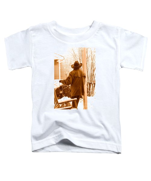 Waiting For The Storm - Sepia Toddler T-Shirt