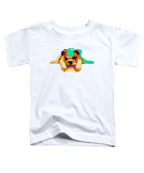 Waiting For You. Dog Series Toddler T-Shirt
