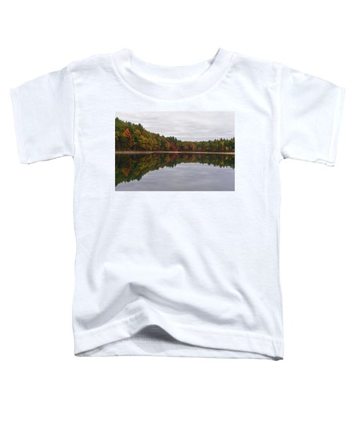 Walden Pond Fall Foliage Concord Ma Reflection Trees Toddler T-Shirt