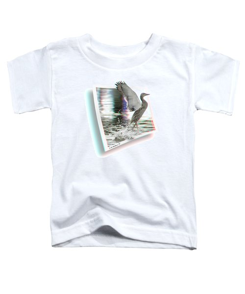 Walking On Water - Use Red-cyan 3d Glasses Toddler T-Shirt