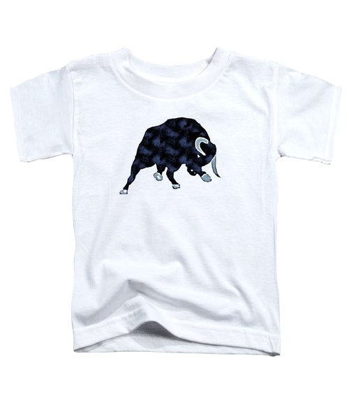 Wall Street Bull Market Series 1 T-shirt Toddler T-Shirt by Edward Fielding
