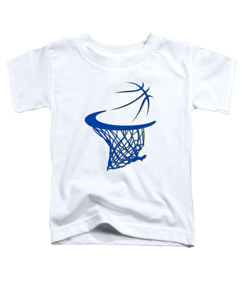 Warriors Basketball Hoop Toddler T-Shirt by Joe Hamilton