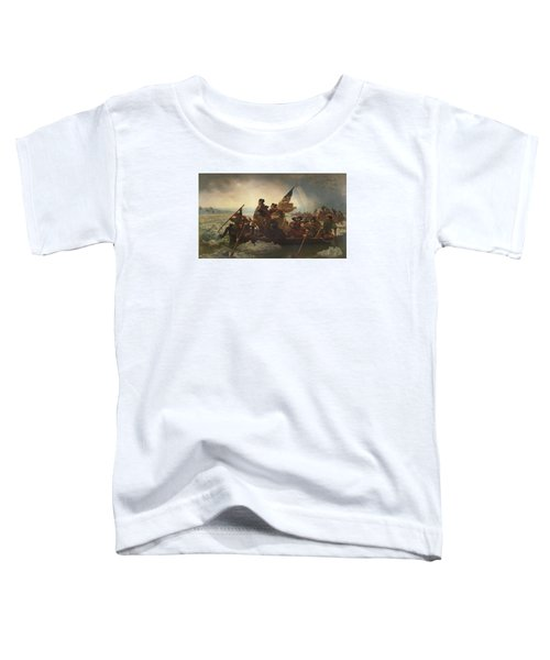 Washington Crossing The Delaware Toddler T-Shirt by War Is Hell Store