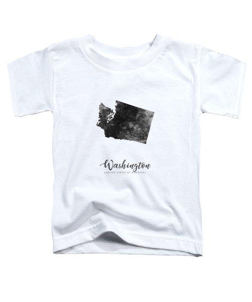 Washington State Map Art - Grunge Silhouette Toddler T-Shirt