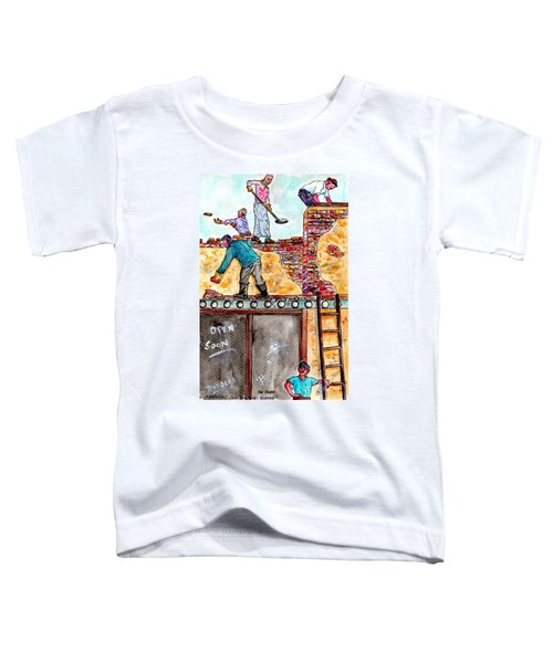 Watching Construction Workers Toddler T-Shirt