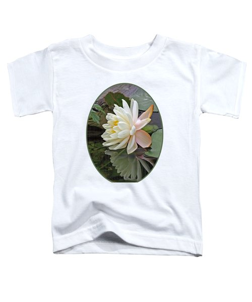 Water Lily Reflections Toddler T-Shirt by Gill Billington