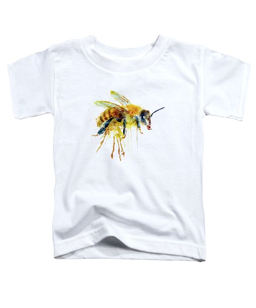 Watercolor Bee Toddler T-Shirt by Marian Voicu