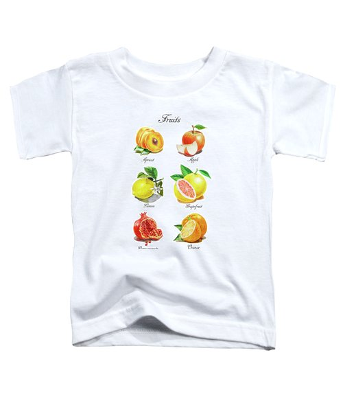 Watercolor Fruit Illustration Collection I Toddler T-Shirt
