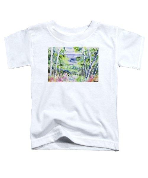 Watercolor - Lake Superior Impression Toddler T-Shirt