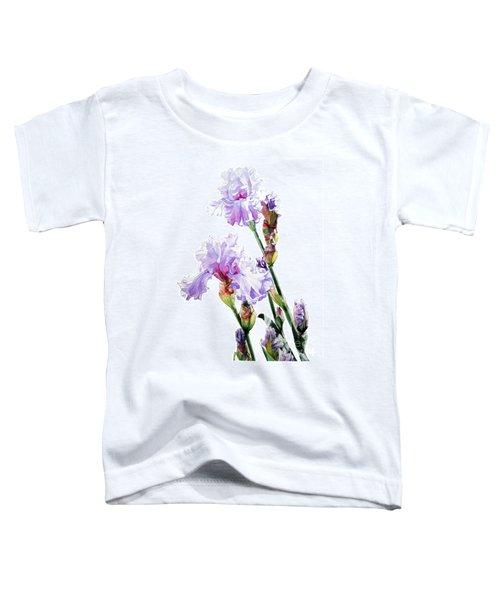 Watercolor Of A Tall Bearded Iris I Call Lilac Iris Wendi Toddler T-Shirt