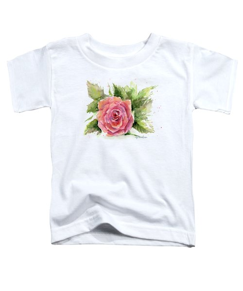 Watercolor Rose Toddler T-Shirt