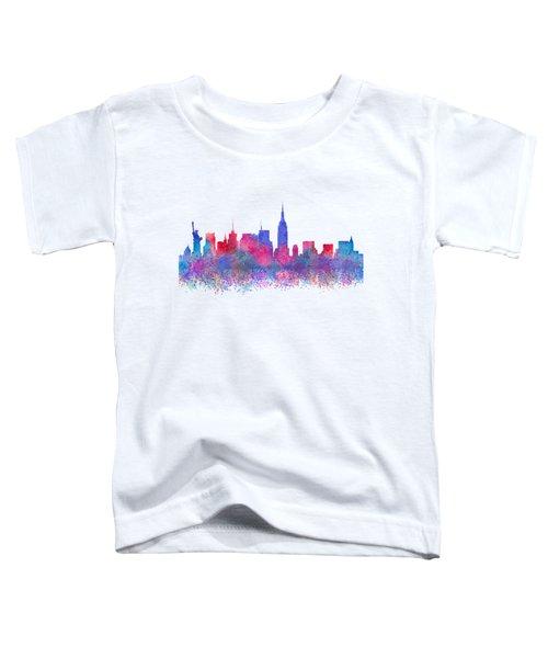 Watercolour Splashes New York City Skylines Toddler T-Shirt
