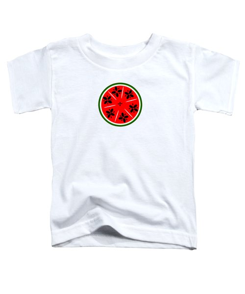 Watermelon Summer Toddler T-Shirt by Chastity Hoff