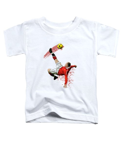 Wayne Rooney Toddler T-Shirt by Armaan Sandhu