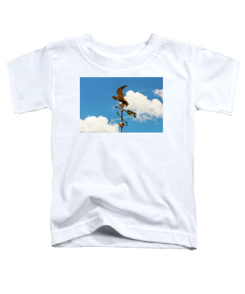 Weather Vane On Blue Sky Toddler T-Shirt