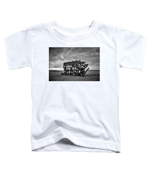 Weathered Rusting Shipwreck In Black And White Toddler T-Shirt
