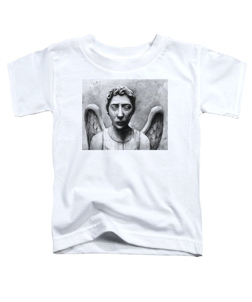 Weeping Angel Don't Blink Doctor Who Fan Art Toddler T-Shirt