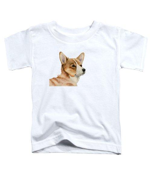 Welsh Corgi Dog Painting Toddler T-Shirt