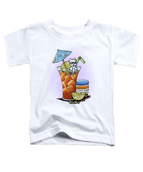 West Highland Iced Tea Toddler T-Shirt by Kim Niles