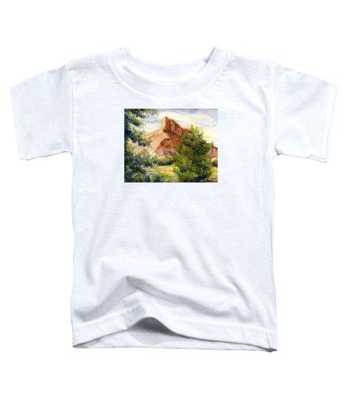 Western Landscape Watercolor Toddler T-Shirt