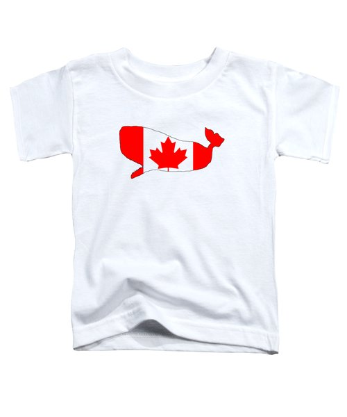 Whale Canada Toddler T-Shirt by Mordax Furittus