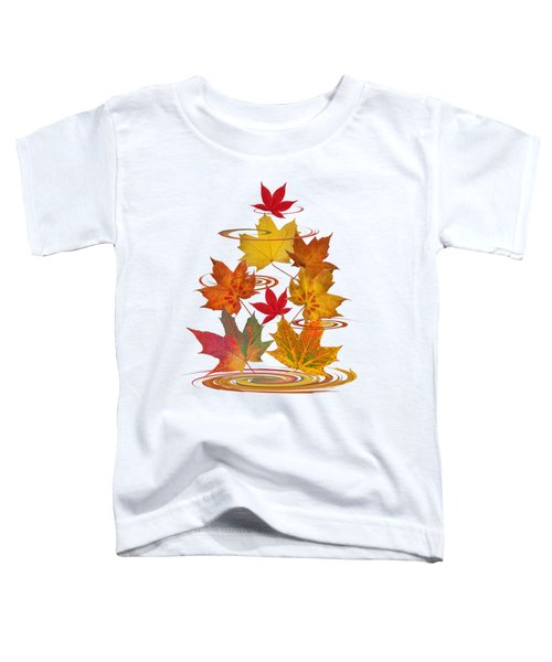 Whirling Autumn Leaves Toddler T-Shirt