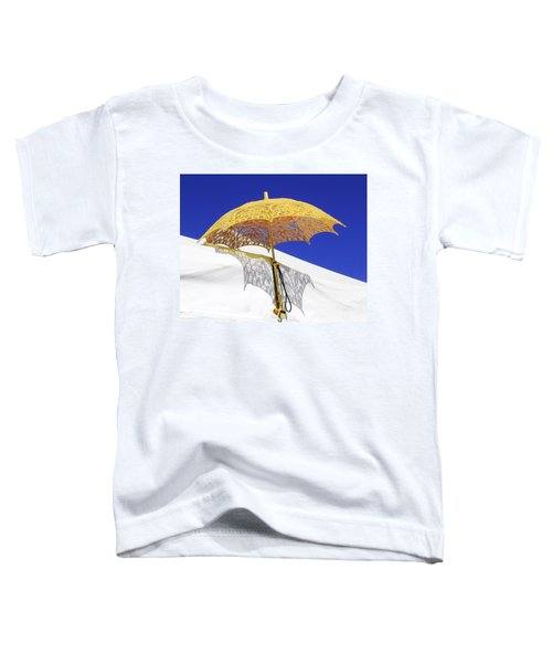 White At Base And Yellow On Blue Toddler T-Shirt