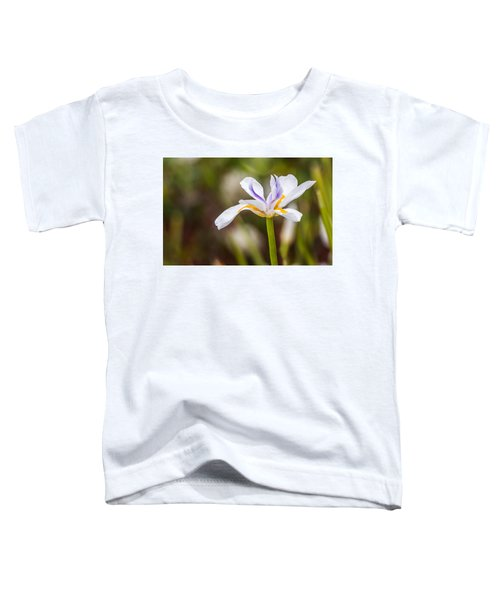 White Beardless Iris Toddler T-Shirt