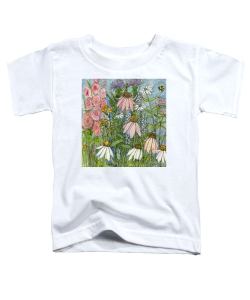 White Coneflowers In Garden Toddler T-Shirt