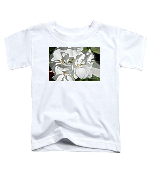 White Geraniums Toddler T-Shirt