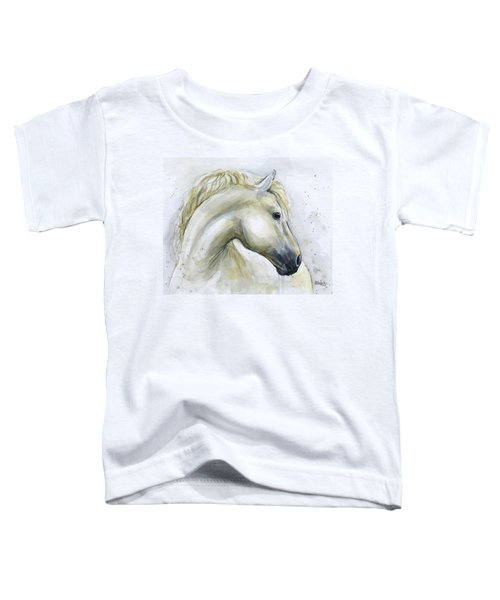 White Horse Watercolor Toddler T-Shirt