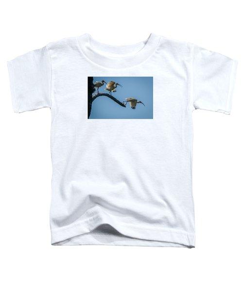 White Ibis Takeoff Toddler T-Shirt