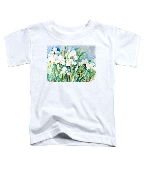 White Irises Toddler T-Shirt