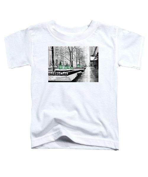 White Mag Mile Christmas Toddler T-Shirt